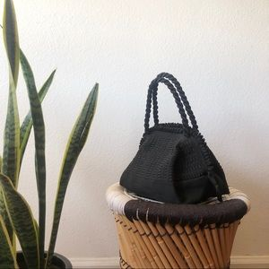 Vintage woven polyester handbag